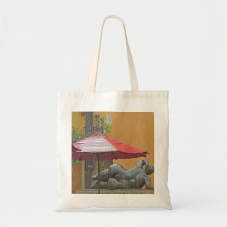 Statue in the Rain in Colombia Budget Tote Bag