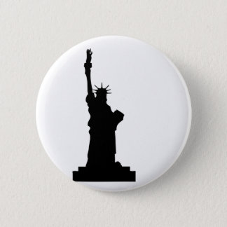statue-liberty 6 cm round badge