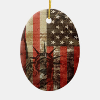 Statue Liberty USA Christmas Ornament