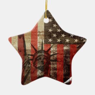 Statue Liberty USA Christmas Ornament