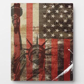 Statue Liberty USA Plaque