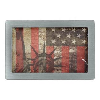 Statue Liberty USA Rectangular Belt Buckles