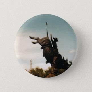 Statue of a bullrider(kkincade12) 6 cm round badge