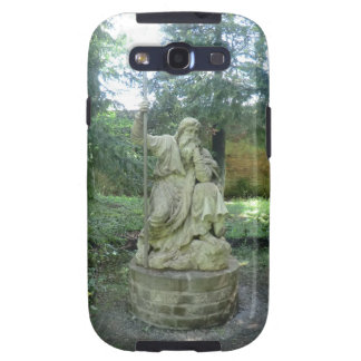 Statue of a Welsh Druid at Erddig Hall Samsung Galaxy SIII Cases