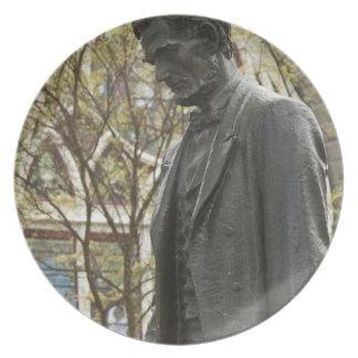 Statue of Abraham Lincoln, Portland, Oregon Plate