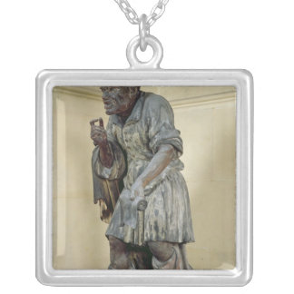 Statue of Aesop Silver Plated Necklace