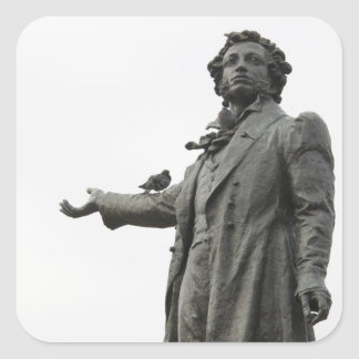 Statue of Alexander Pushkin, Saint Petersburg Square Sticker