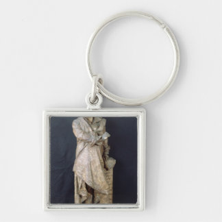 Statue of Alexandre Dumas Pere , c.1883-87 Silver-Colored Square Key Ring