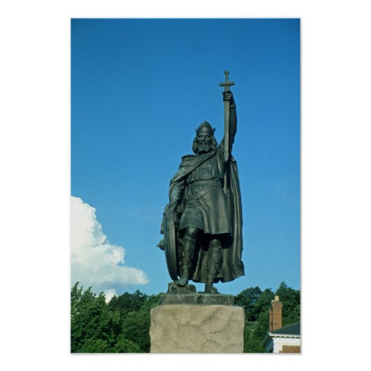 Statue of Alfred the Great Poster