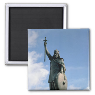 Statue of Alfred the Great Square Magnet