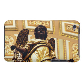 Statue of angel in gold barely there iPod cases