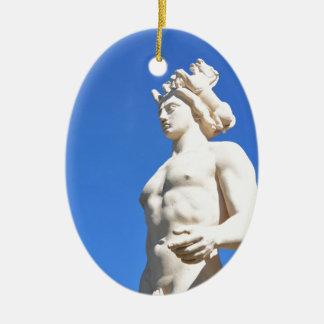 Statue of Apollo (Neptune) Ceramic Oval Decoration