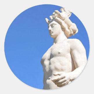 Statue of Apollo (Neptune) Classic Round Sticker
