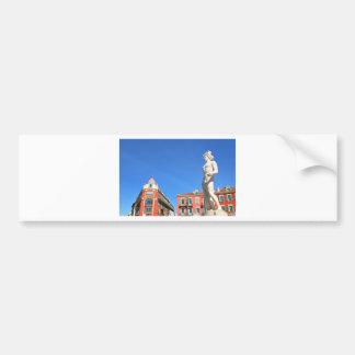 Statue of Apollo (Neptune) overlooking Place Masse Bumper Sticker