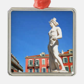 Statue of Apollo (Neptune) overlooking Place Masse Christmas Ornament