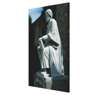 Statue of Averroes Canvas Print