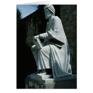 Statue of Averroes Greeting Card