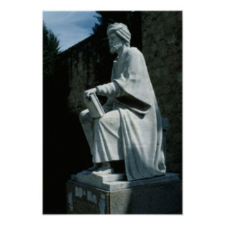 Statue of Averroes Poster