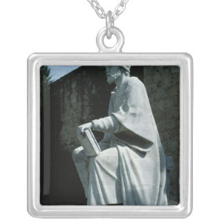Statue of Averroes Square Pendant Necklace