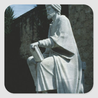 Statue of Averroes Square Sticker