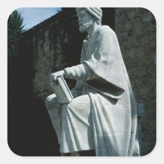 Statue of Averroes Square Sticker