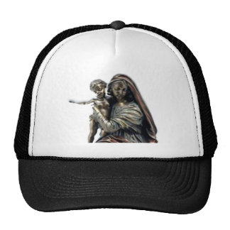 Statue of Blessed Virgin Mary and Child Jesus Cap