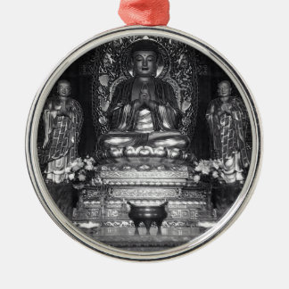 Statue of Buddha from a Chinese Buddhist Temple Christmas Ornament