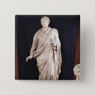 Statue of Caesar Augustus 15 Cm Square Badge