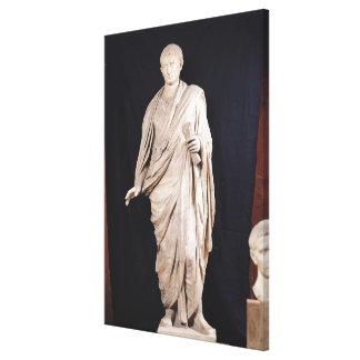 Statue of Caesar Augustus Canvas Print