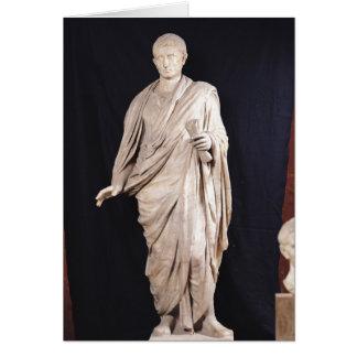 Statue of Caesar Augustus Greeting Card