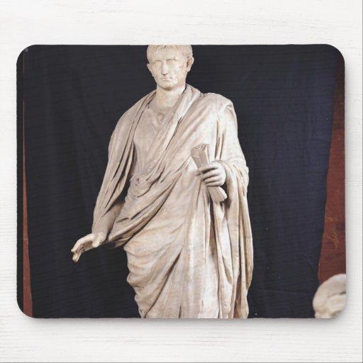 Statue of Caesar Augustus Mouse Pad
