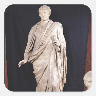 Statue of Caesar Augustus Square Sticker