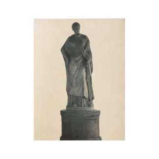 Statue of Cerere Wood Poster