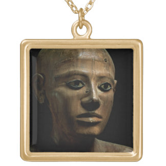 Statue of Chancellor Nakhti, from Asyut, early Mid Gold Plated Necklace