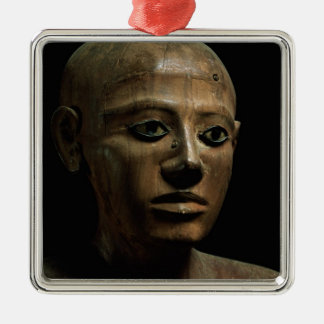 Statue of Chancellor Nakhti, from Asyut, early Mid Silver-Colored Square Decoration