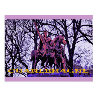 Statue of Charlemagne, Paris Postcard