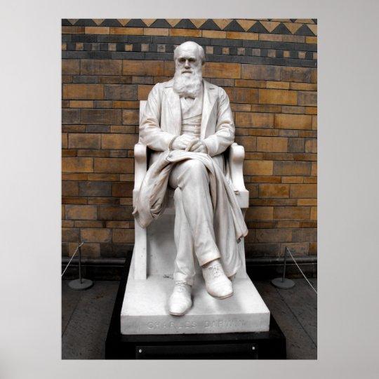 Statue of Charles Darwin Poster