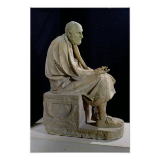 Statue of Chrysippus  the Greek philosopher Poster