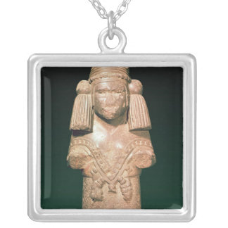 Statue of Coatlicue, ancient earth and mother Silver Plated Necklace