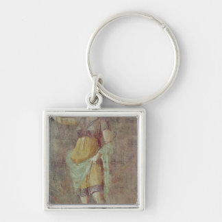Statue of Diana, from Pompeii, c.50-59 Silver-Colored Square Key Ring
