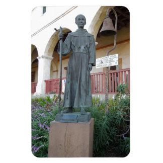 Statue of Father Serra at Santa Barbara Mission Rectangular Photo Magnet