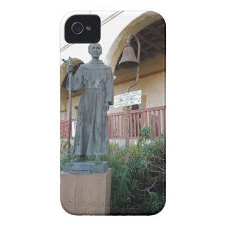 Statue of Father Serra at Santa Barbara Mission iPhone 4 Case-Mate Cases