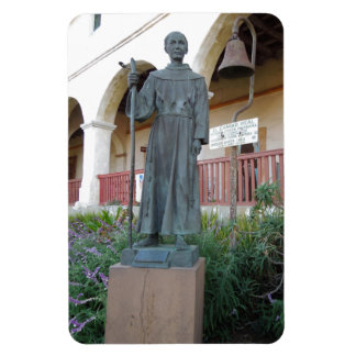 Statue of Father Serra at Santa Barbara Mission Rectangular Photo Magnet