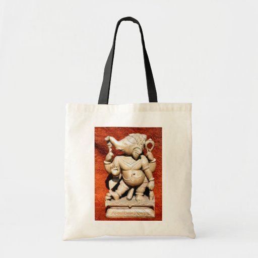 Statue of Ganesha Tote Bags