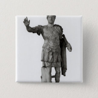 Statue of Hadrian  (marble 15 Cm Square Badge
