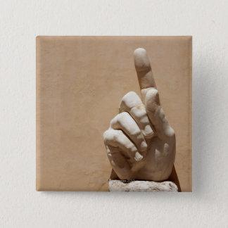 Statue of hand in Palazzo dei Conservatori 15 Cm Square Badge