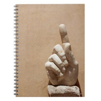 Statue of hand in Palazzo dei Conservatori Notebook