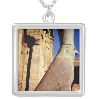 Statue of Horus Silver Plated Necklace