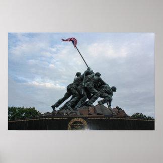 Statue of Iwo Jima Poster