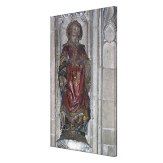 Statue of Judith (polychrome stone) Canvas Print